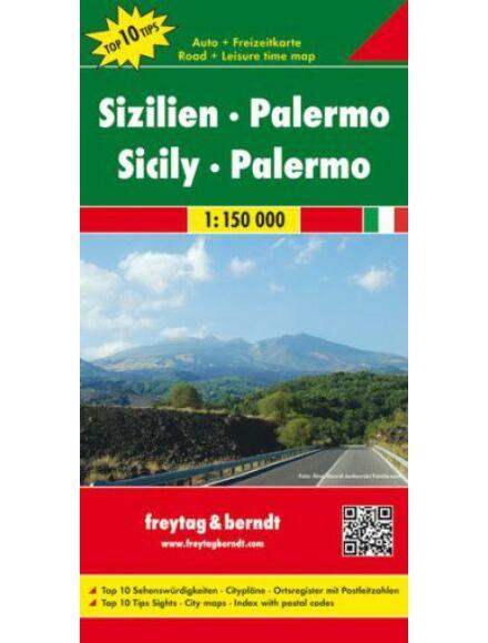 Szicília, Palermo térkép