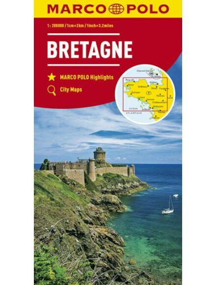 Bretagne térkép