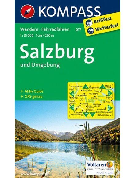 Cartographia  - K 017 Salzburg és környéke turistatérkép