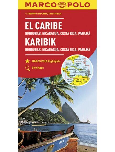 Karib-szigetek térkép