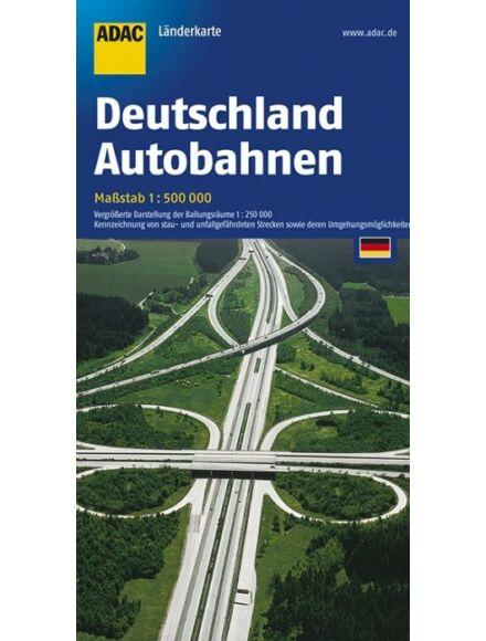 Németország autópálya térkép