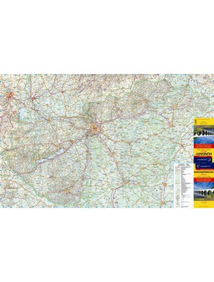 Magyarország falitérkép 1:450 000 (nagy méret) - hablapos