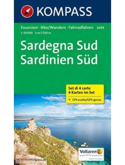 Cartographia  - K 2499 Szardínia Dél 4 részes szett turistatérkép