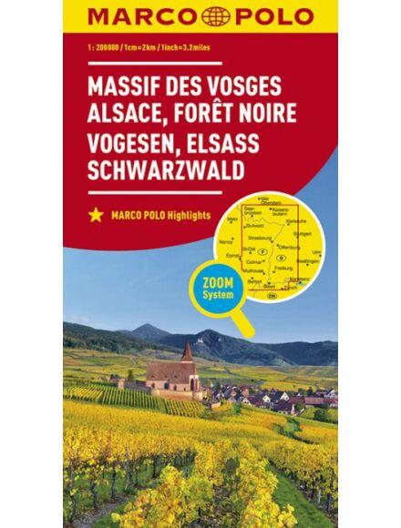 Cartographia  - Franciaország résztérkép - Vogézek, Elzász, Feketeerdő térkép