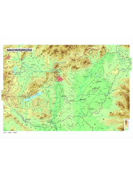 Magyarország domborzata falitérkép - kicsi, lécezett