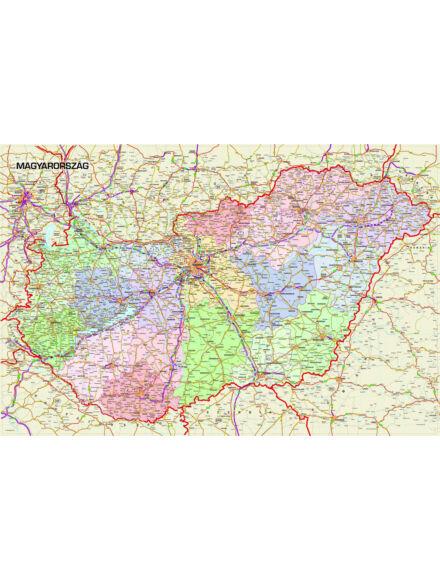 Cartographia  - Magyarország falitérkép (kicsi)