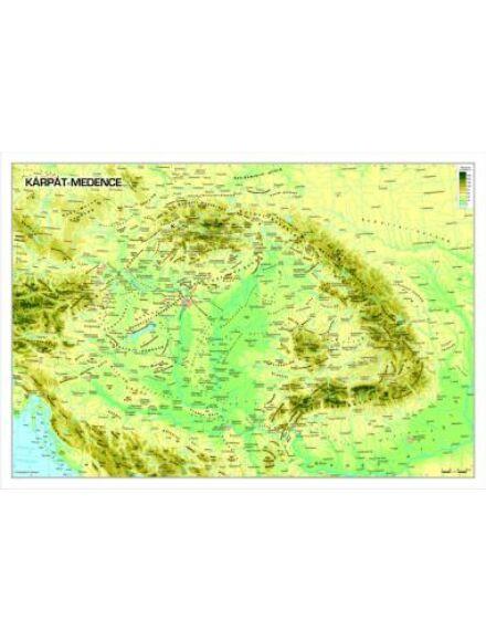 Cartographia  - Kárpát medence domborzata keretes falitérkép