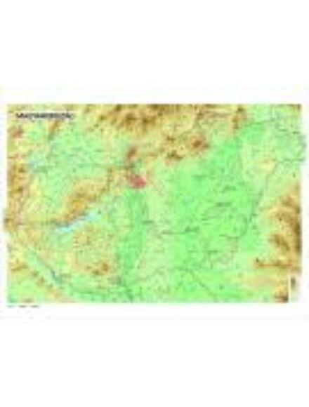 Magyarország domborzata falitérkép - fóliázott ív