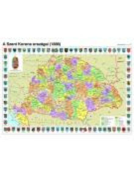 Cartographia  - A Szent Korona országai fóliás falitérkép