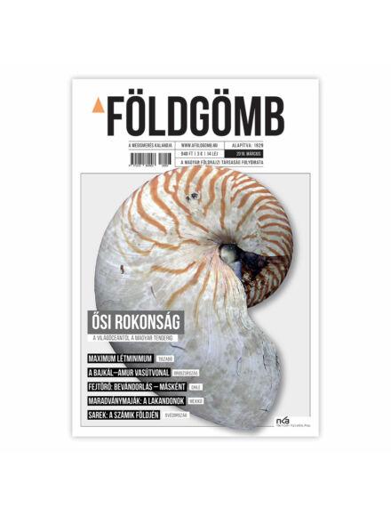 Cartographia  - Földgömb újság 2018/ március