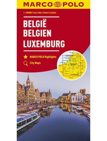 Cartographia  - Belgium, Luxemburg térkép
