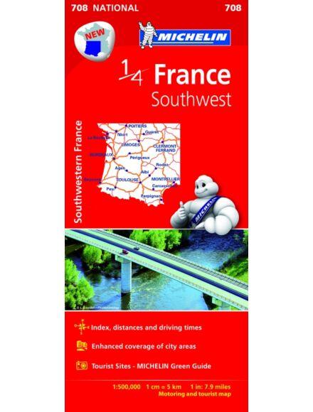 Cartographia  - Franciaország - Dél-Nyugat térkép (707)