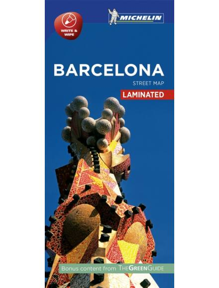 Barcelona várostérkép (laminált)