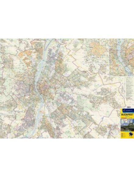Cartographia  - Budapest falitérkép - lécezett