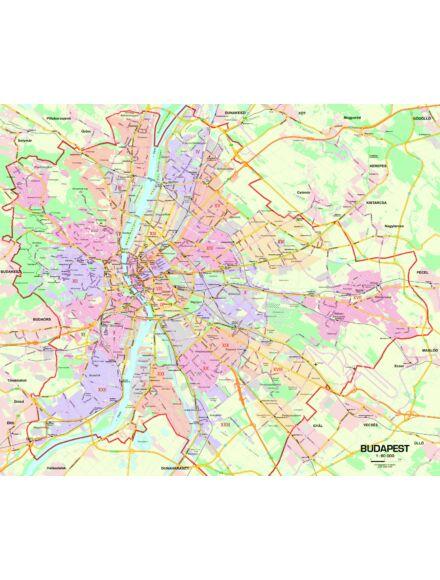 Cartographia  - Budapest térkép - kicsi, lécezett