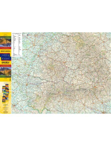 Cartographia  - Erdély autótérkép - fóliás ív