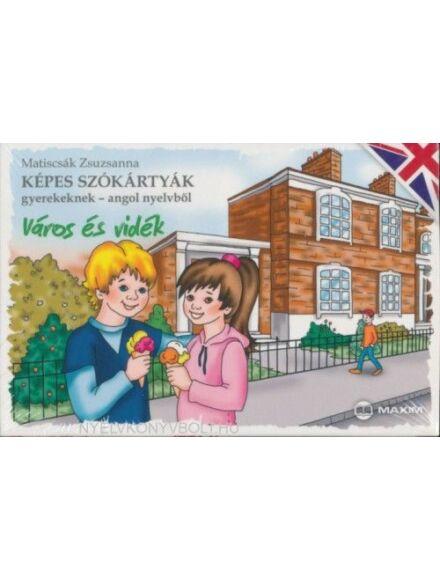 Képes szókártyák gyerekeknek angol nyelvből - Város és vidék