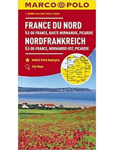 Észak-Franciaország térkép