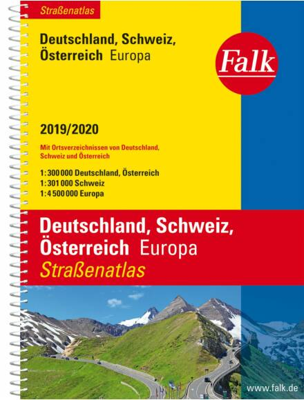 Cartographia  - Németország, Svájc, Ausztria SuperStrassen atlasz (2017/2018)