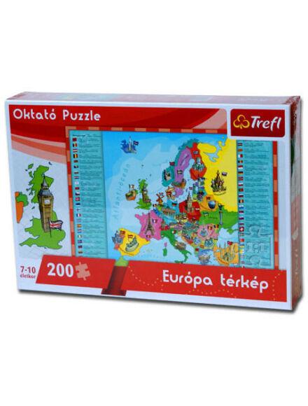 Puzzle - Európa térkép 60x40 cm, 200 db