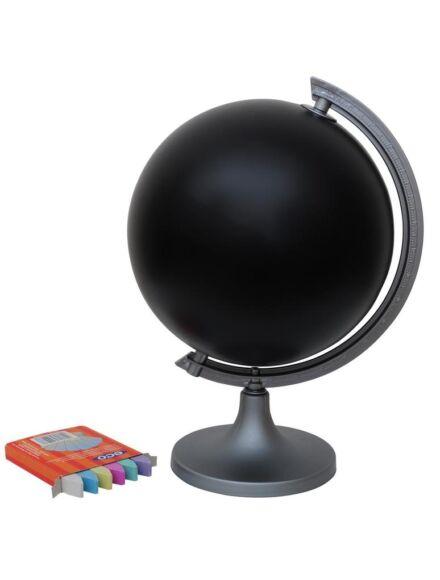 Rajzolható földgömb, 25 cm fekete