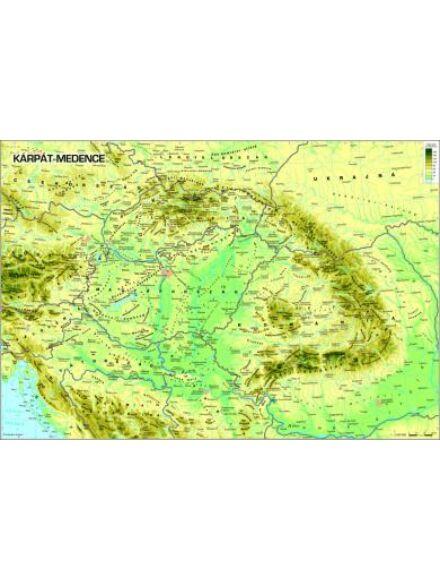 Cartographia  - Kárpát medence domborzata falitérkép kicsi