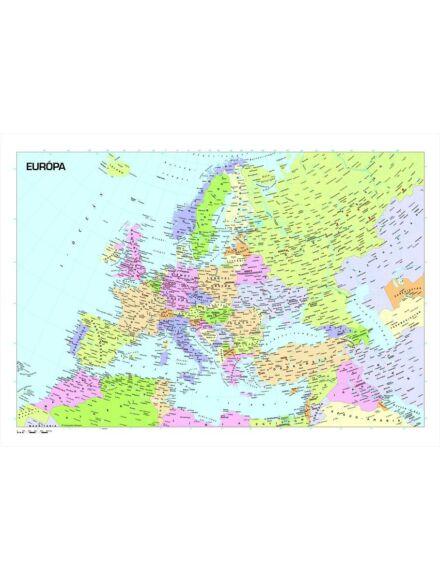 Európa országai falitérkép - kicsi, lécezett