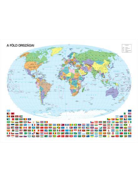 Cartographia  - A Föld országai falitérkép lécezett kicsi