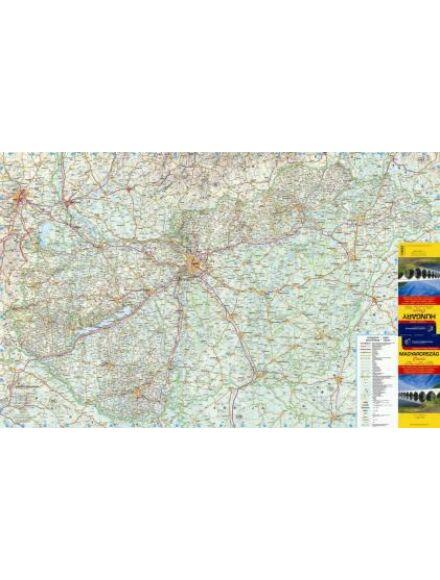 Magyarország falitérkép 1:520 000 (közepes méretű) - fóliázott ív