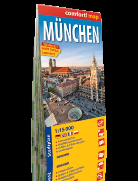 München várostérkép (laminált)
