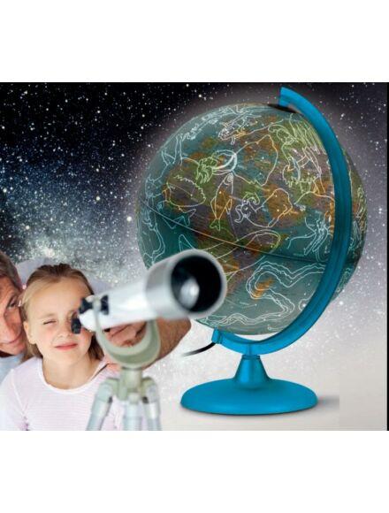 NIGHT&DAY föld- és csillaggömb, világító, 25 cm átmérőjű