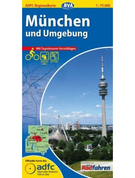 München és környéke kerékpáros régiótérkép