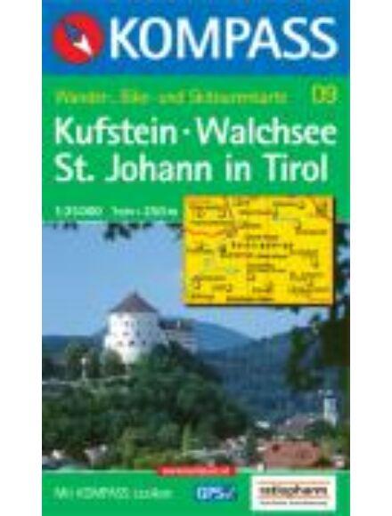 Cartographia  - KOMPASS Wanderkarten: Kufstein - Walchsee - St. Johann in Tirol