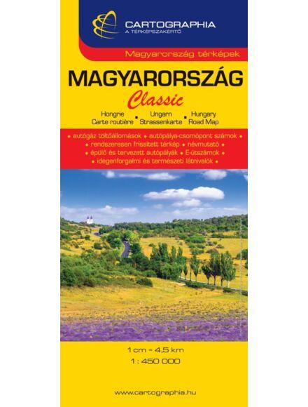 Cartographia  - Magyarország Classic (puhaborítós) térkép