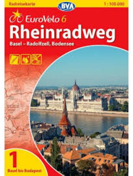 Cartographia  - Rajna menti kerékpárút térkép