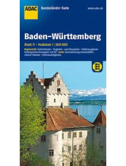 Baden-Württemberg tartománytérkép