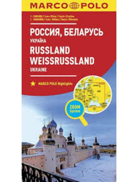 Cartographia  - Oroszország, Ukrajna, Fehéroroszország térkép