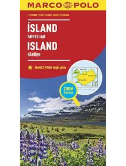Cartographia  - Izland, Feröer-szigetek térkép