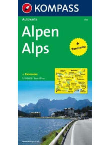 Cartographia  - K 350 Alpok autótérkép