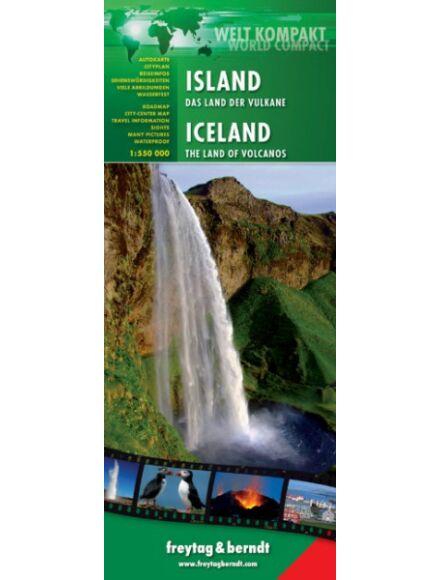 Cartographia  - Izland térkép - laminált