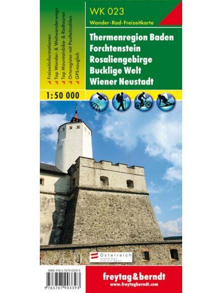 Cartographia  - WK023 Thermenregion Baden-Rosaliengebirge-Hohe Wand-Forchtenstein-Wiener Neustadt térség turistatérkép