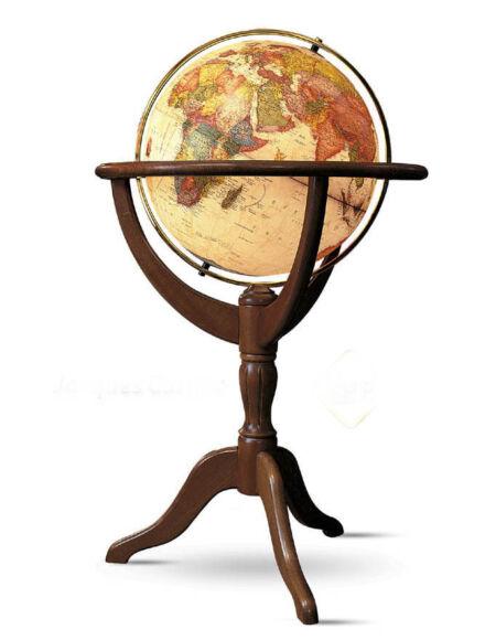 JANINE földgömb - 50 cm átmérőjű, világító antik,angol nyelvű