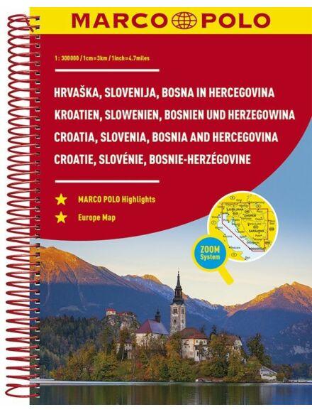 Cartographia  - Horvátország, Szlovénia, Bosznia-Hercegovina atlasz