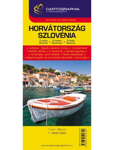 Cartographia  - Horvátország/Szlovénia térkép