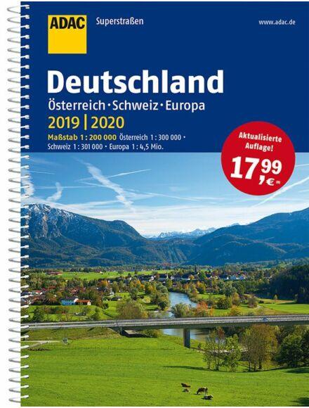 Cartographia  - Németország, Svájc, Ausztria, Európa SuperStrassen atlasz