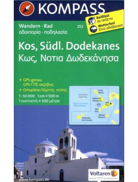 Cartographia  - K 252 Kos, Déli Dodekánok turistatérkép