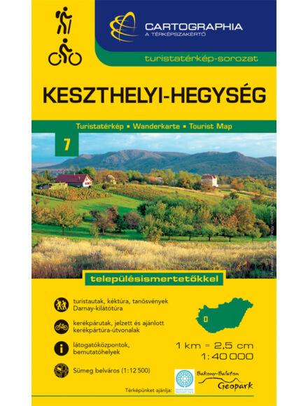 Cartographia  - Keszthelyi-hegység turistatérkép
