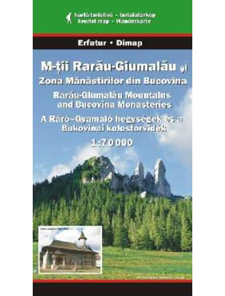 A Ráró-Gyamaló hegységek és a Bukovinai kolostorvidék turistatérkép