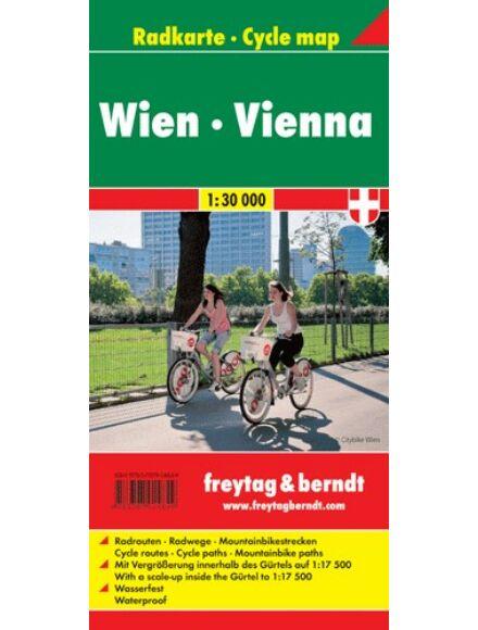 Bécs kerékpáros térkép