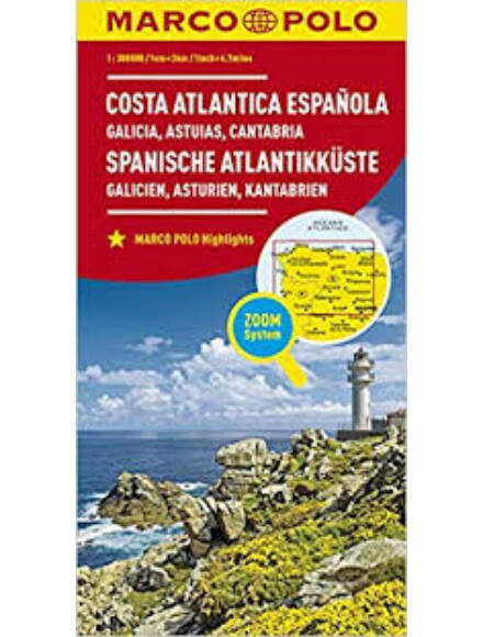 Spanyol tengerpart (Galicia, Asztúria, Kantábria) térkép